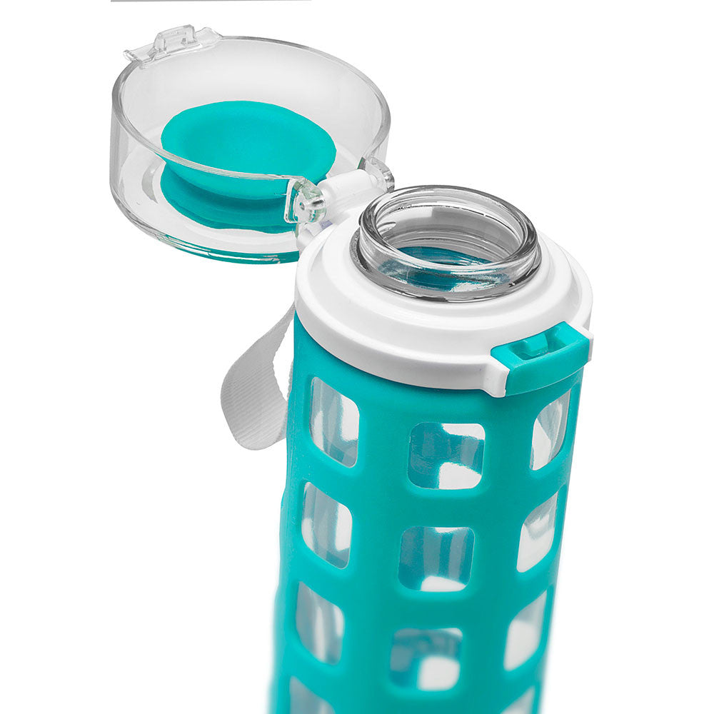 ELLO Syndicate Glass Water Bottle - Teal | Only £14.99