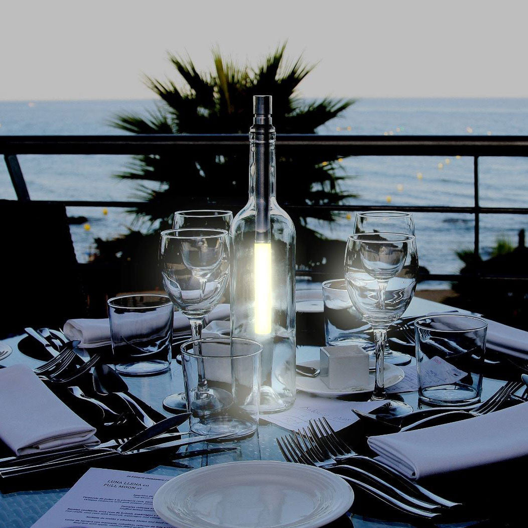 Bottlelight LED Light Wand makes a great table light. Just £22.99 from www.uberstar.com