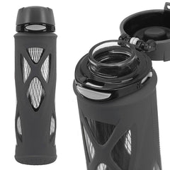 ZULU Atlas Glass Water Bottle - Black | Only £17.99 | Uberstar