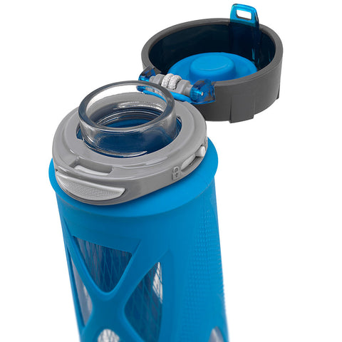 ZULU Atlas Glass Water Bottle - Blue