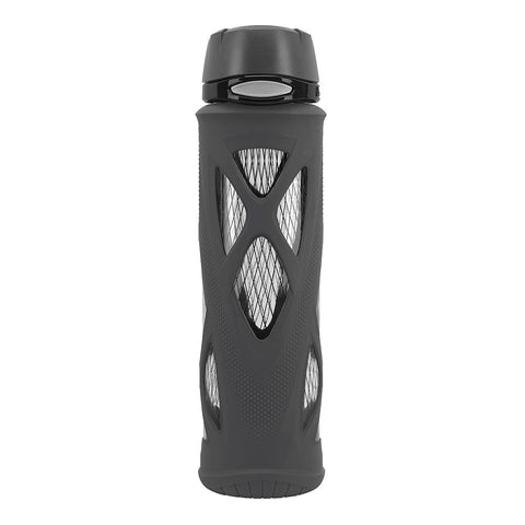 ZULU Atlas Glass Water Bottle - Black
