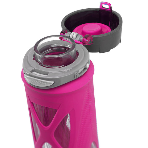 ZULU Atlas Glass Water Bottle - Pink