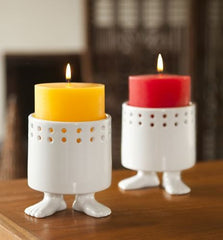 Efeet Candle Holders Lifestyle Red and Yellow Candles