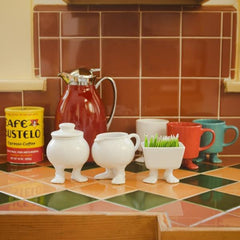 Efeet Footed Milk Jug by Dylan Kendall in the kitchen, lifestyle