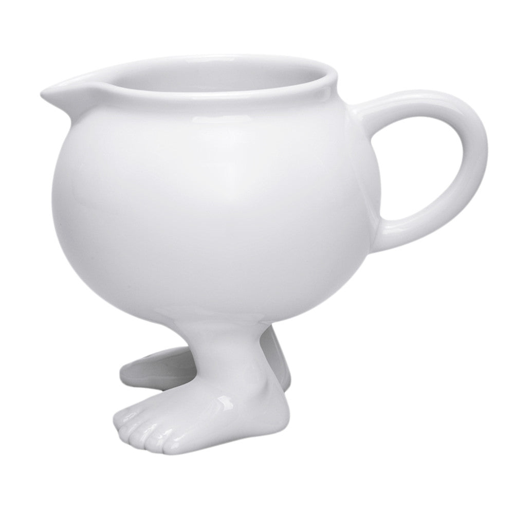 Efeet Footed Milk Jug by Dylan Kendall Side View