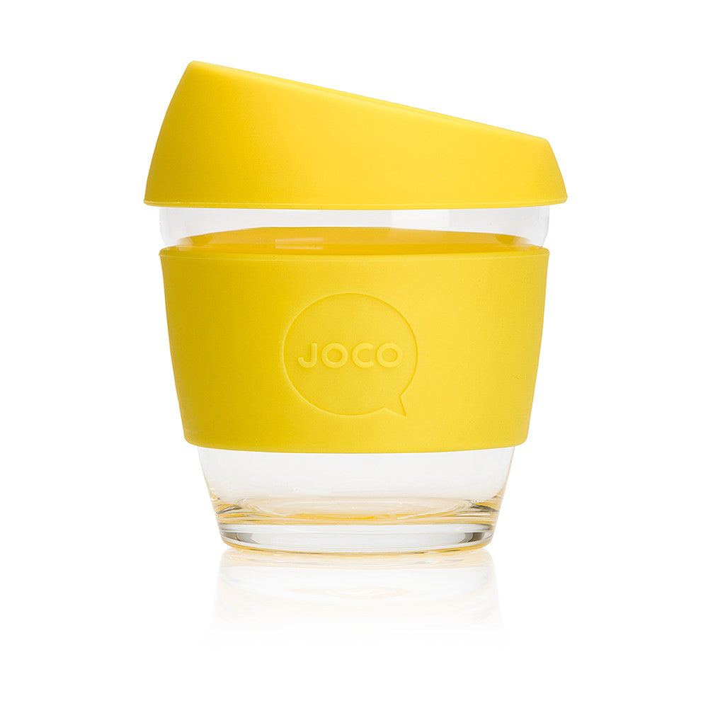 JOCO Cup 8oz Lemon - The Reusable Glass Coffee Cup
