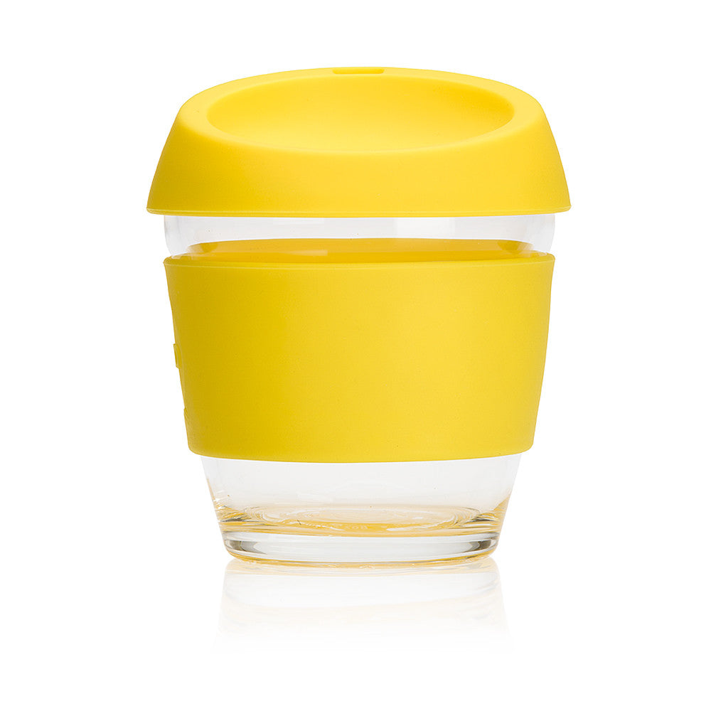 JOCO Cup - Reusable Glass Coffee Cup - 12oz Lemon | Uberstar.com