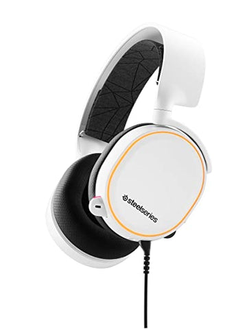 -STEELSERIES GAMING HEADSET - ARCTIS 5 2019 EDITION- WHITE (CROSS)-STEELSERIES-Dynacor IT & Gaming Solutions