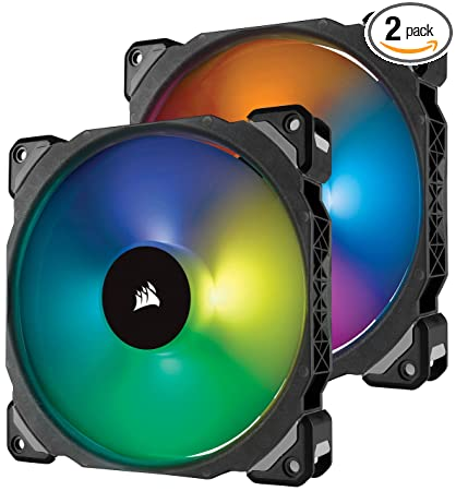 CO-9050078-Corsair ML140 PRO RGB LED 140MM PWM Premium Magnetic Levitation Fan — Dual Fan Pack + Lighting Node PRO-CORSAIR-Dynacor IT & Gaming Solutions