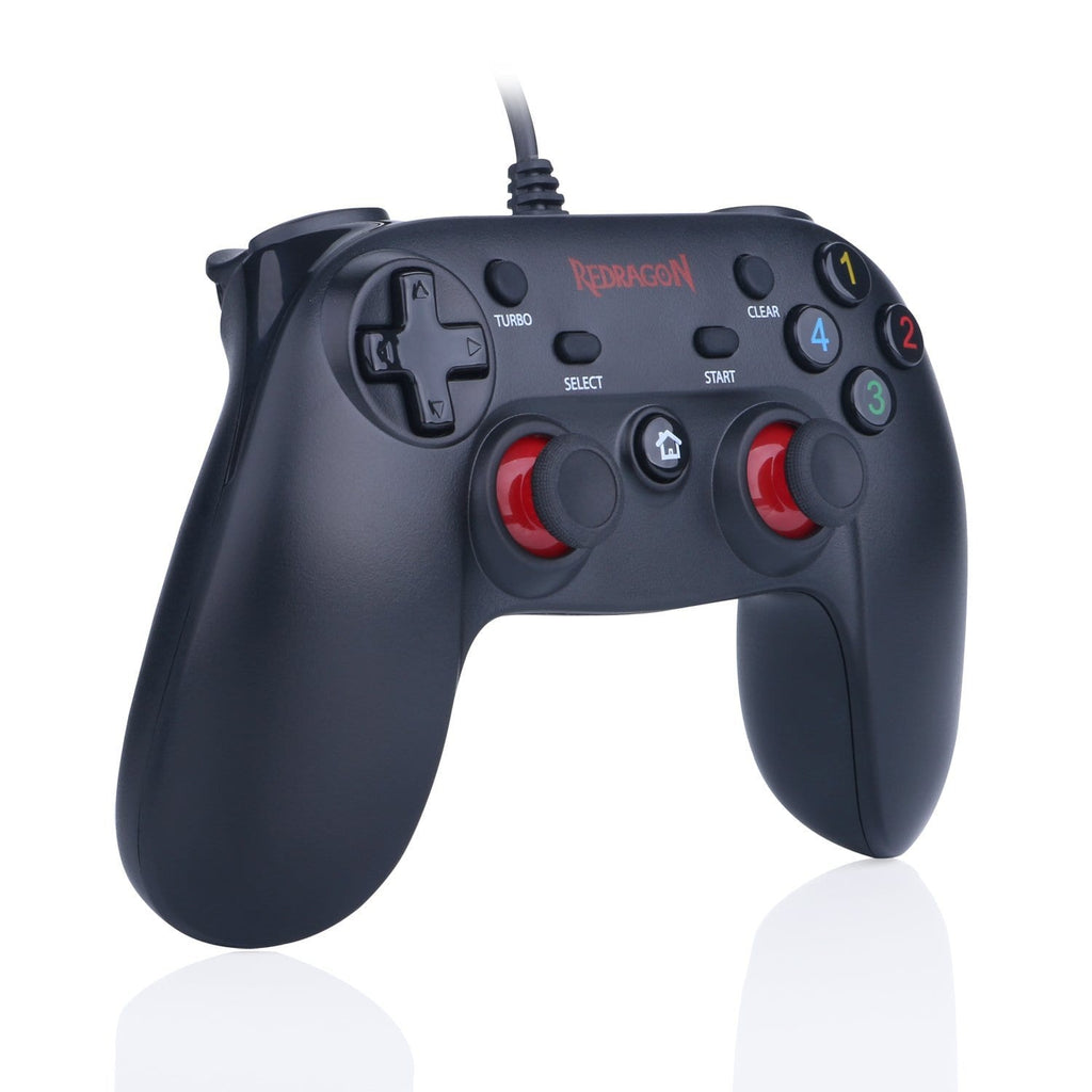 -Redragon SATURN Wired X/D-input(Digital/Analog) PC Controller Black-REDRAGON-Dynacor IT & Gaming Solutions