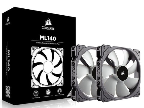 -CORSAIR ML140 | 140MM MAGNETIC LEVITATION CHASSIS COOLING FAN | DUAL PACK.-CORSAIR-Dynacor IT & Gaming Solutions