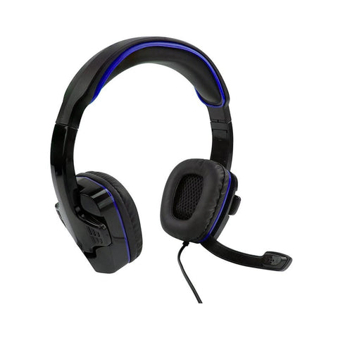 W18P102-Sparkfox PS4 SF1 Stereo Headset Black and Blue-SPARKFOX-Dynacor IT & Gaming Solutions