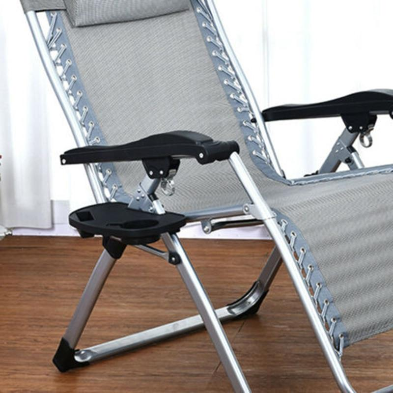 New Arrival Folding Tray holder Picnic Outdoor Beach Garden Chair Side Tray Cup Holder For Drink convenient practical