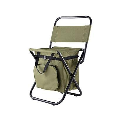 Fishing Chair Movable Refrigerator Keep Warm Cold Portable Folding Beach Chair about 1350g Seat Camping 100kg Chairs with Pocket