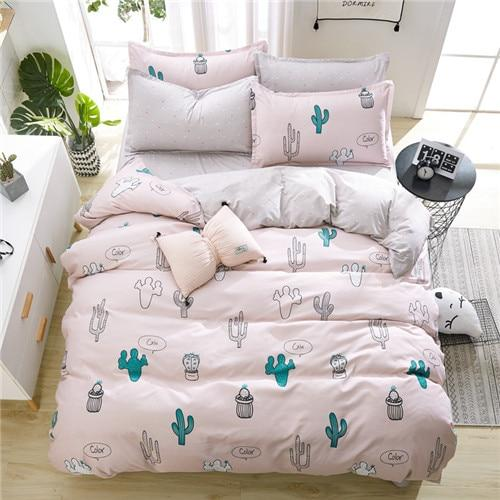 American style bedding set AB side bed set super king size bed linens pink duvet cover set heart home bedding women bedclothes
