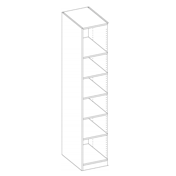 Gracious Home Petite Five Shelf Closet