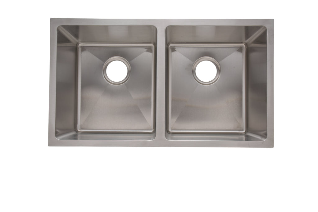 "31"" Split Modern Sink 18G Double Basin"
