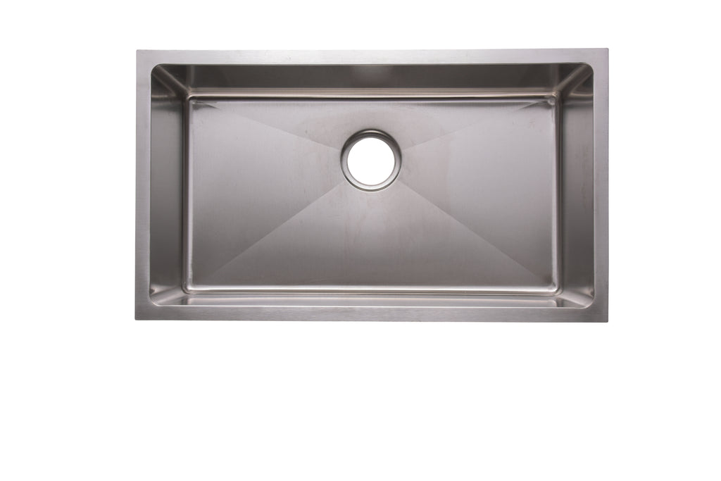 "31.25"" Modern Sink 18G Single Basin"