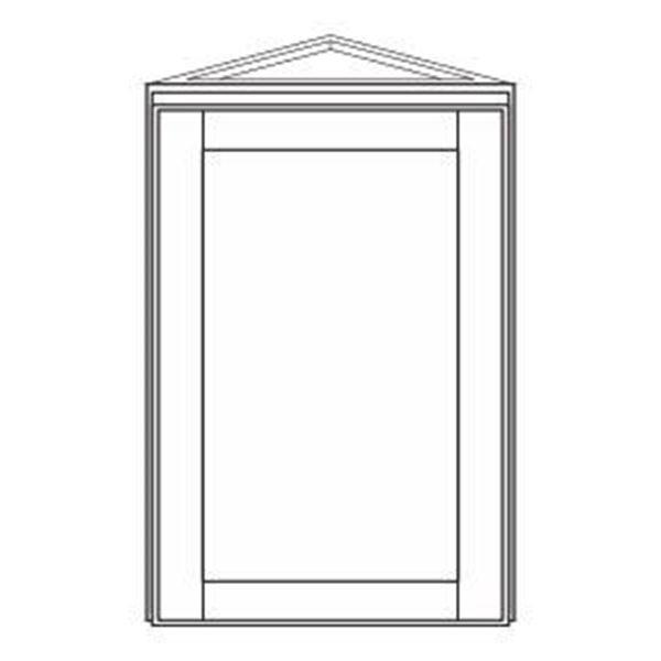 Corner Wall Cabinets - Annapolis Blue