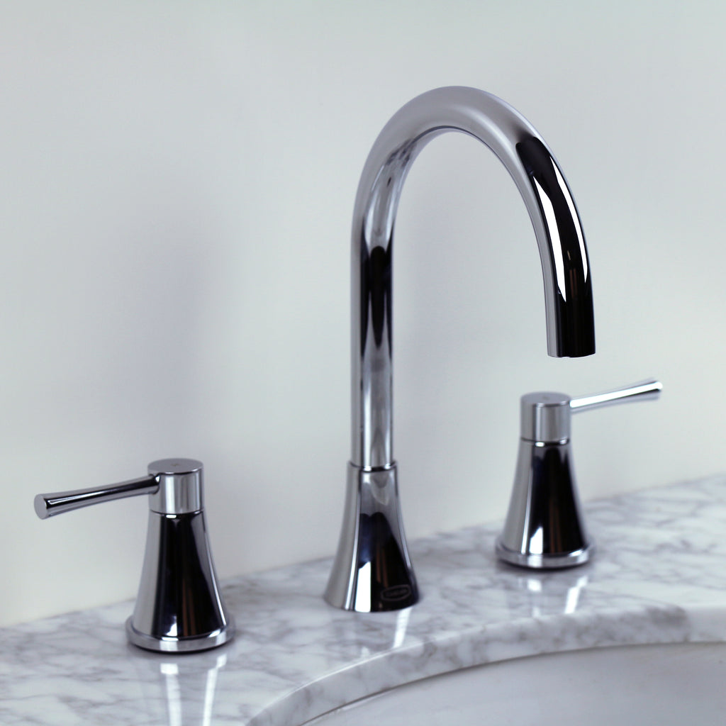 Chrome Large Gooseneck Bathroom Faucet