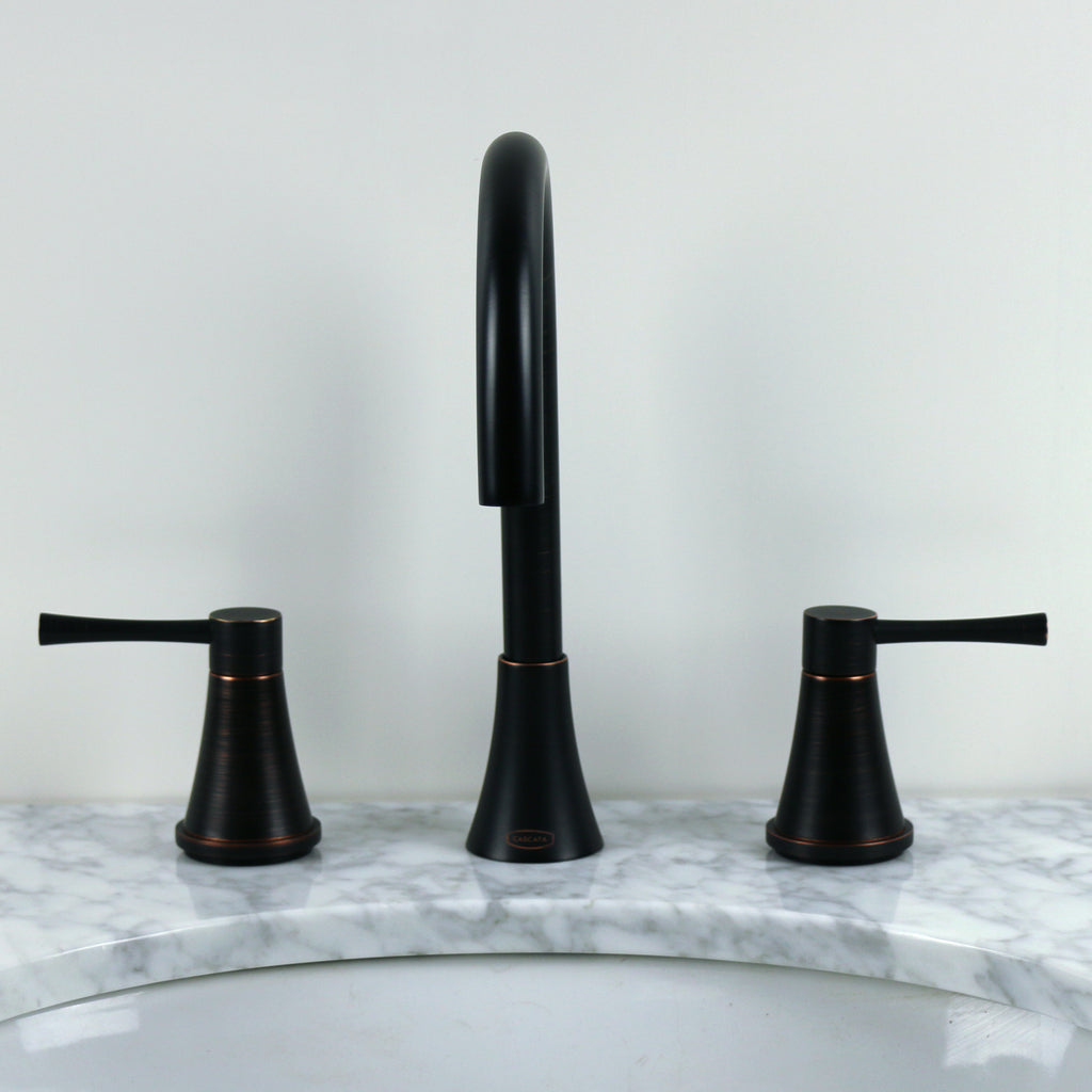 Oil-Rubbed Bronze Large Gooseneck Bathroom Faucet