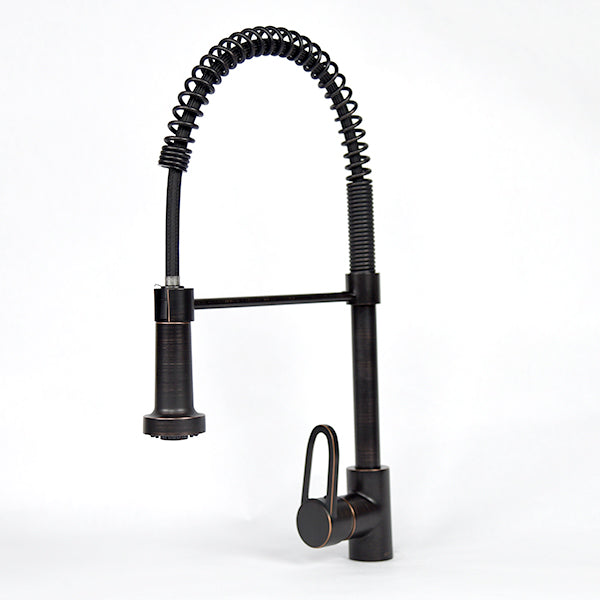 Oil-Rubbed Bronze Industrial Gooseneck Kitchen Faucet