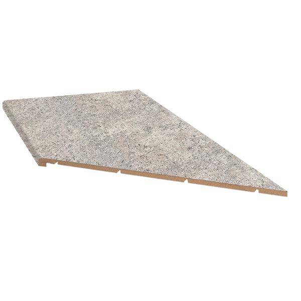 Argento Romano 10' Right Miter Countertop