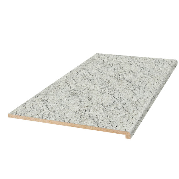White Ice Granite 8' Laminate Countertop