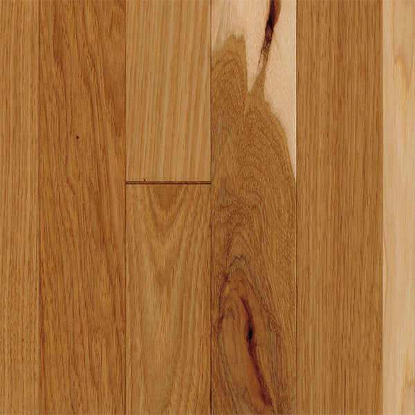 "3/4"" x 2 1/4"" Gracious Home 50 Yr PreFin Solid Natural Hickory Hardwood-Sample"