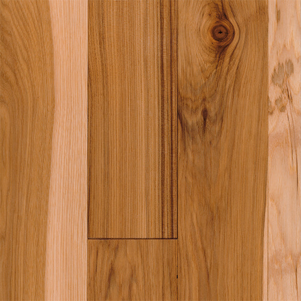 "3/4"" x 3 1/4"" Gracious Home 50 Yr PreFin Solid Natural Hickory Hardwood-Sample"