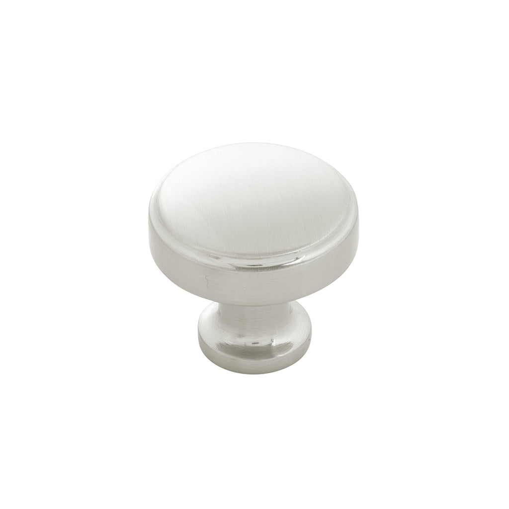 Satin Nickel Knob 1-1/4 Inch Diameter