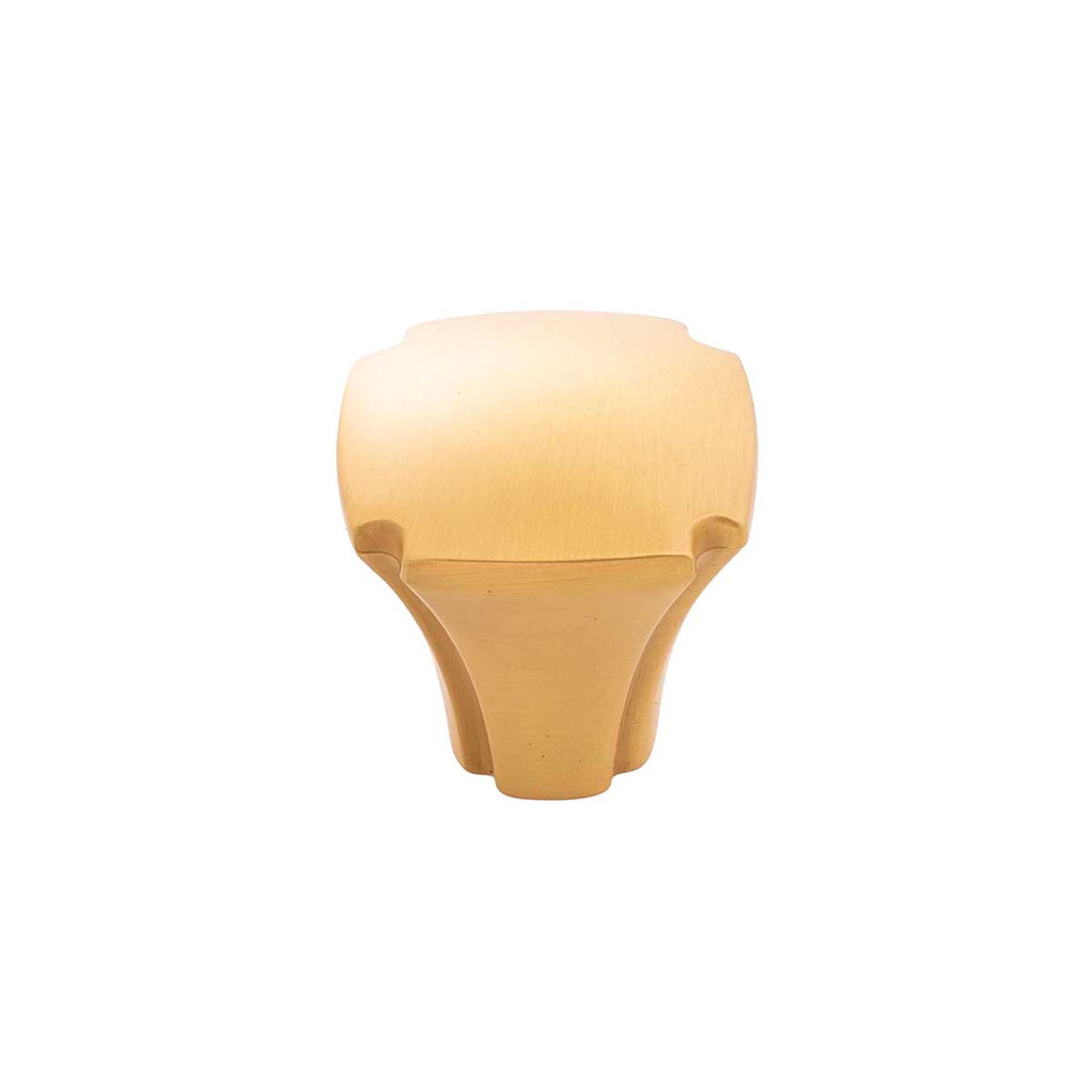 Satin Brass Knob 1-1/8 Inch Square