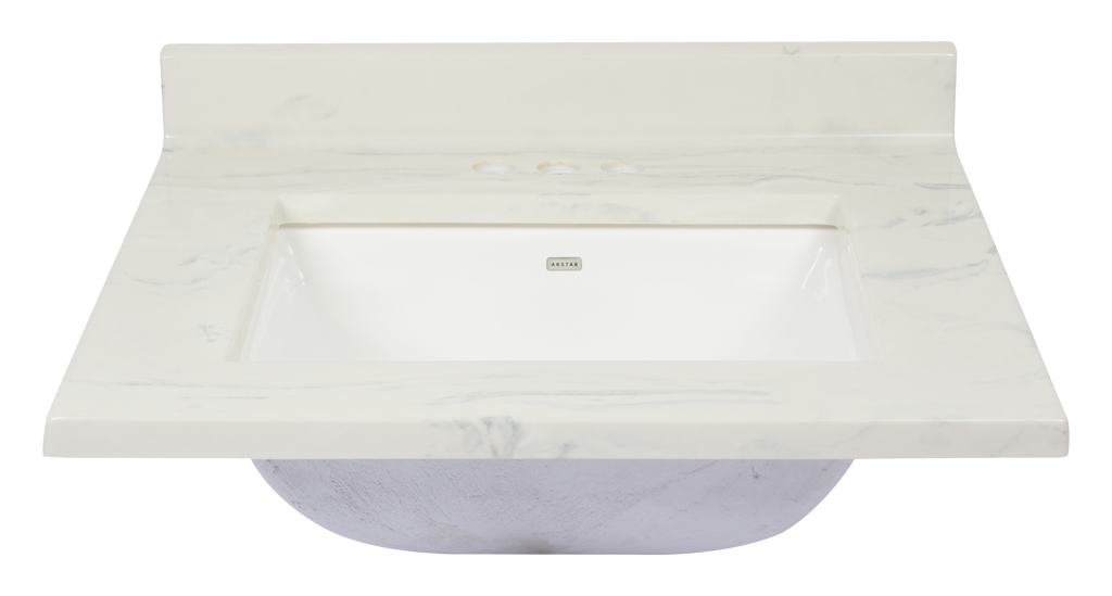 Pronto Vanity Carrara White  22'' x 31'' Top