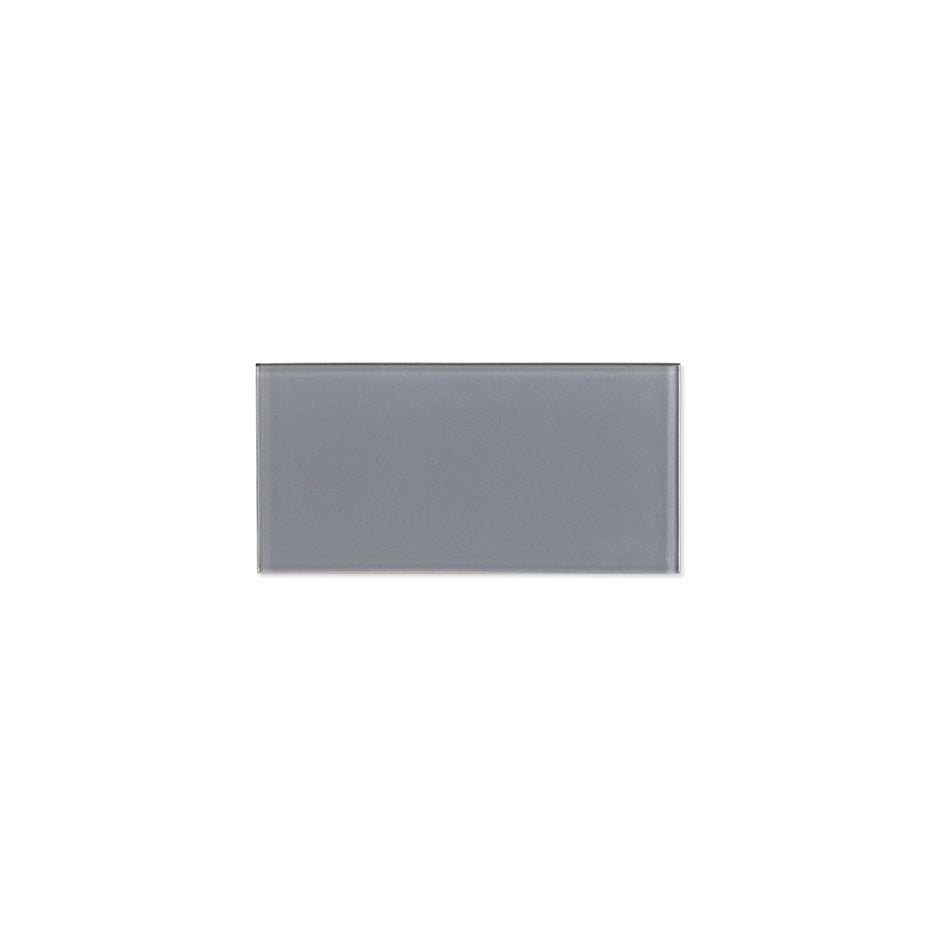 ProntoMosaic Medium Gray Glass Subway 3'' x 6'' (24-pack / 3 sq.ft.)