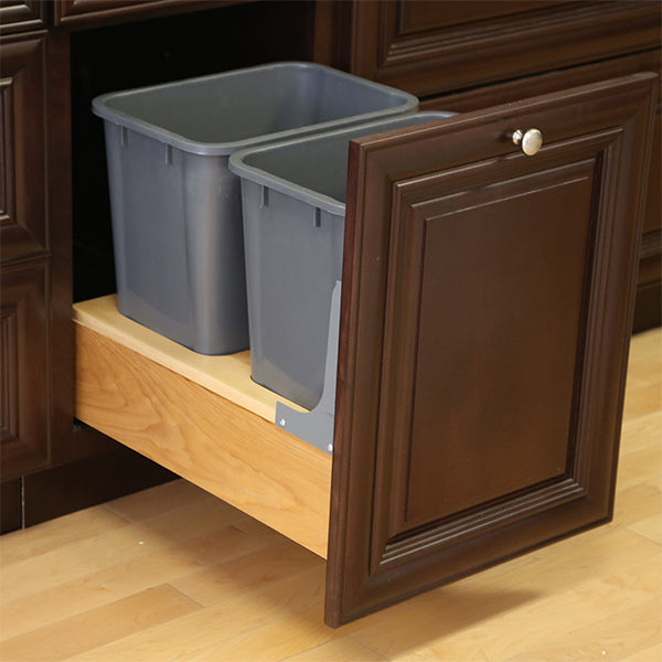 Pull-Out Double Waste Basket 18""