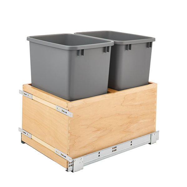 Pull Out Waste Basket Double 18""