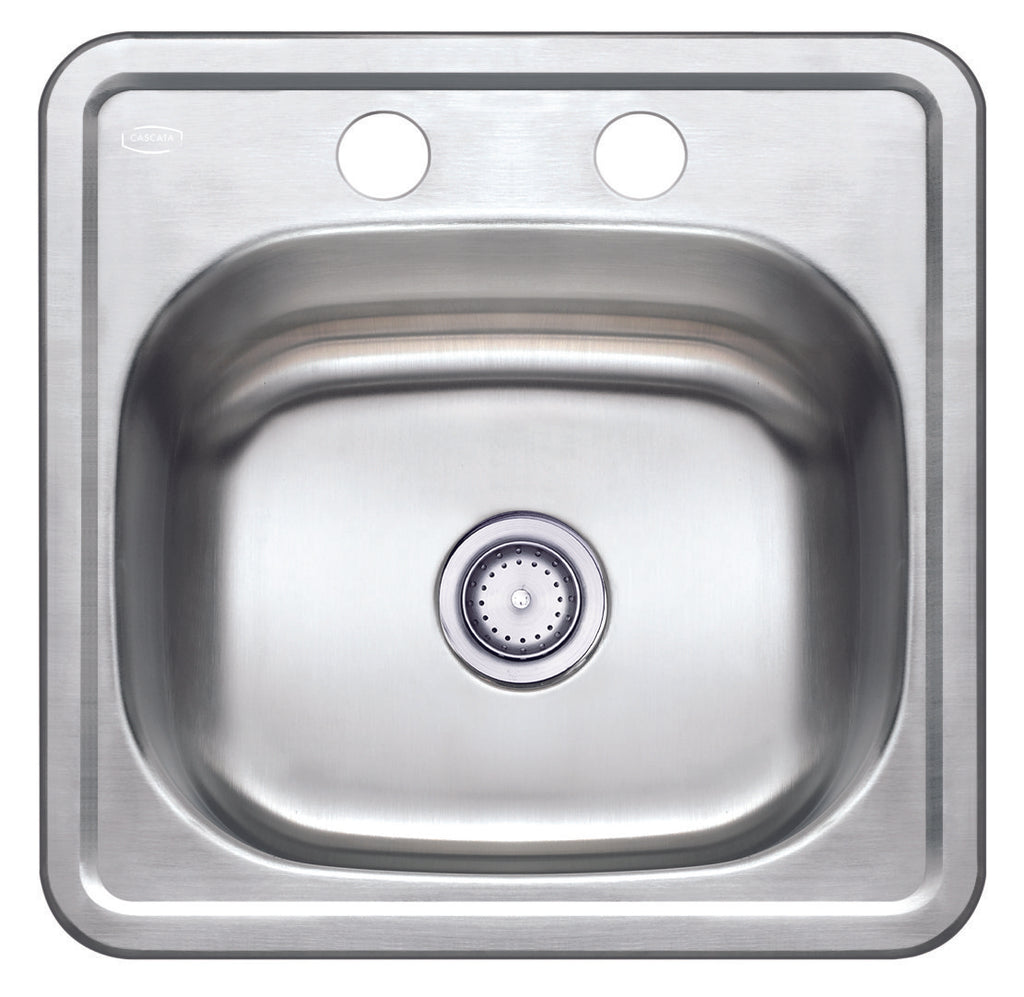 15'' TOPMOUNT 20G Single Basin