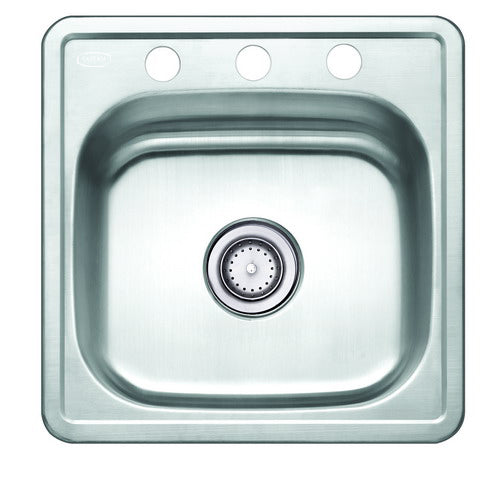 19'' TOPMOUNT 20G Single Basin