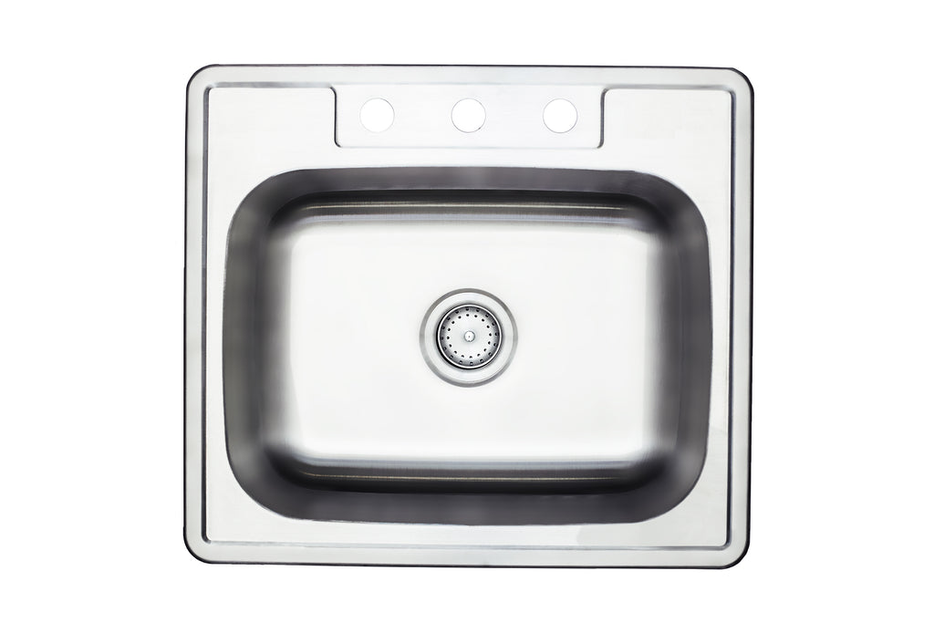 25'' TOPMOUNT 20G Single Basin