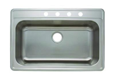 "33"" TOPMOUNT 20G Single Basin"
