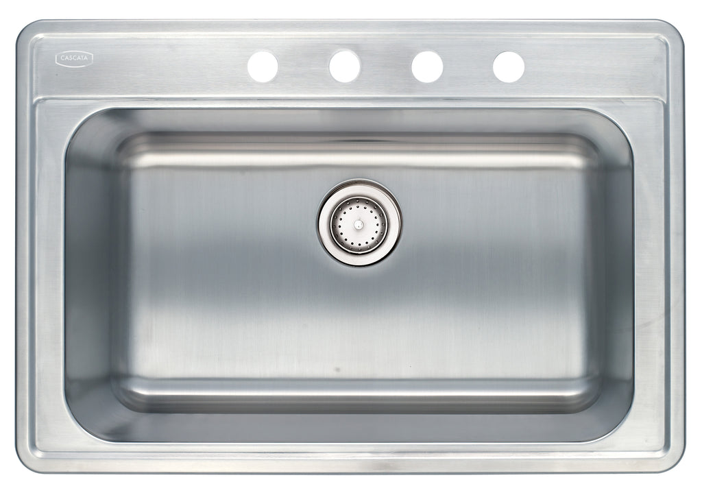 33'' TOPMOUNT 18G Single Basin