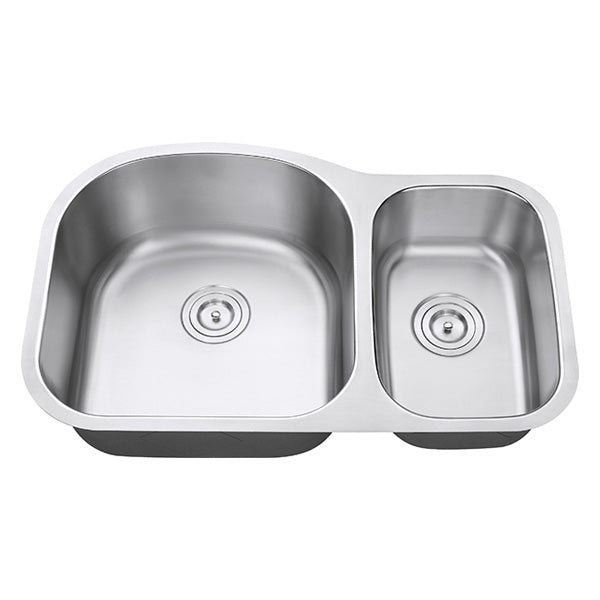"32"" 60-40 Split Traditional Sink"