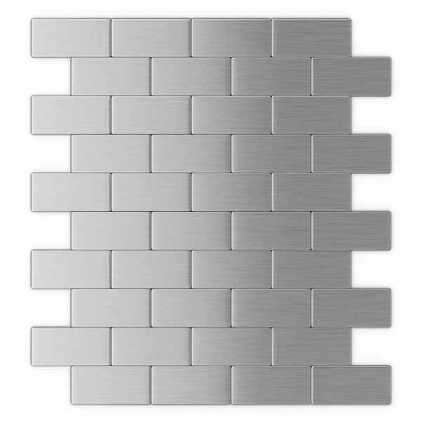 ProntoMosaics Stainless Steel Brick Tile