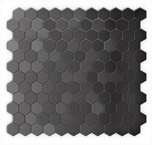 ProntoMosaics Stainless Black Hexagon Tile