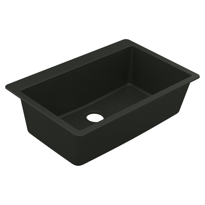 MOEN® Black Single Basin Granite Sink