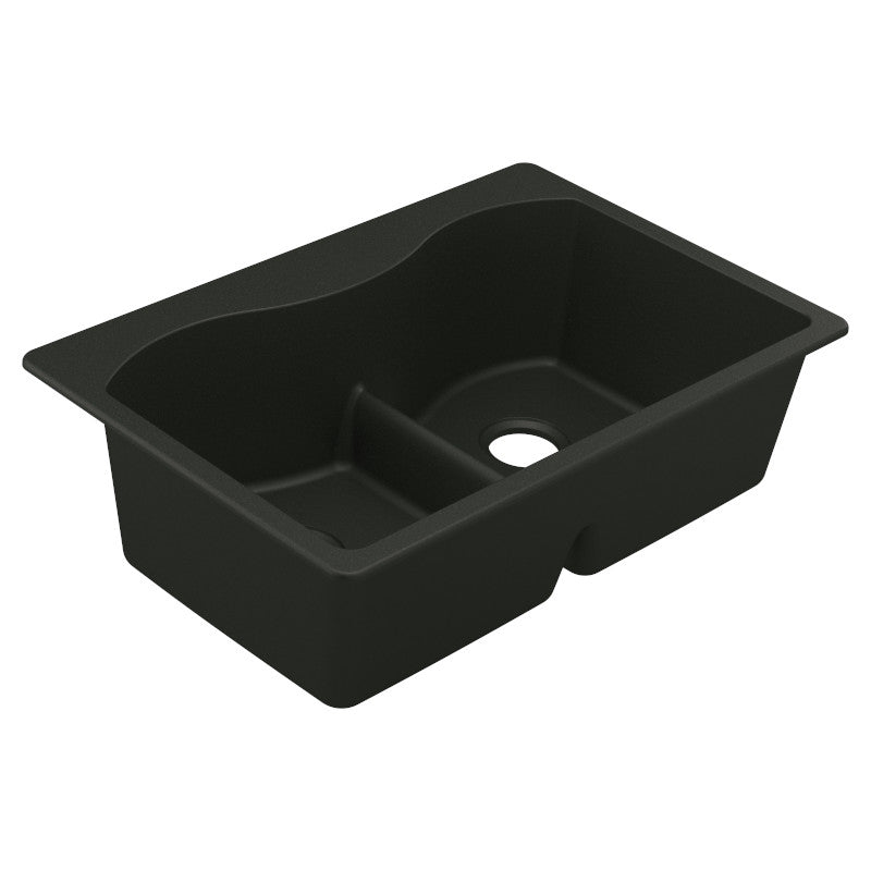 MOEN® Black Double Basin Granite Sink