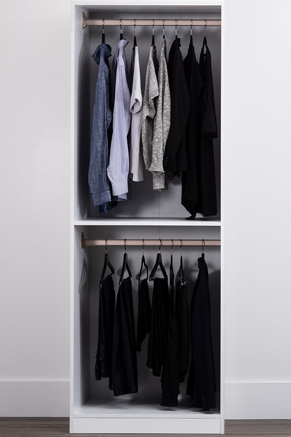 Gracious Home Dual Hanging Closet