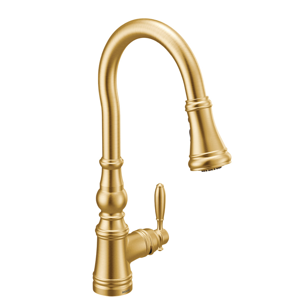 MOEN® Brushed Gold High Arc Pull Down Faucet