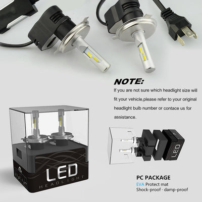 All-in-One LED Headlight Bulbs Conversion Kit