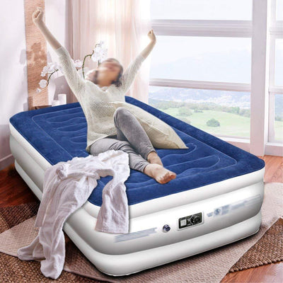 Inflatable Airbed with Free Fitted Sheet & Carry Bag